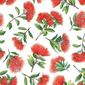 Pohutukawa Splash pure cotton fabric