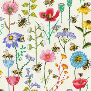 Bee Haven pure cotton fabric