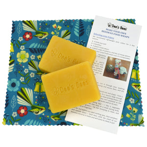 DIY Beeswax Food Wrap Kit - Twin Pack