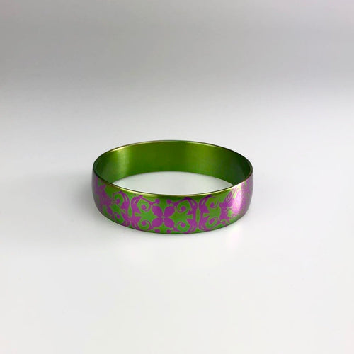 Patterned Cuff in Green and Purple