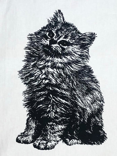 Fluffy Kitten Tea Towel