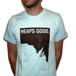 Unisex 'Heaps Good' American Apparel T-shirt in Blue