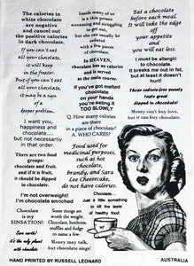'Chocolate Sinsation' Tea Towel