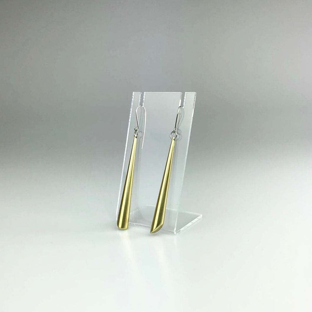 Long Cone Earrings in Gold