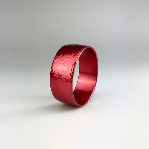Wide Bangle in Red