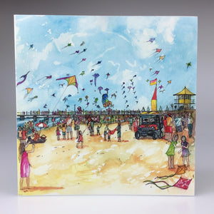 'Adelaide International Kite Festival, Semaphore' Greeting Card