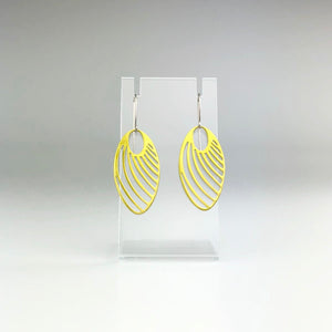 'Oval Cutout' Earrings in Green Gold