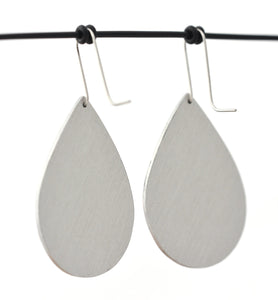 Droplet Shepard's Hook Earrings, Blue Geraldton Duo