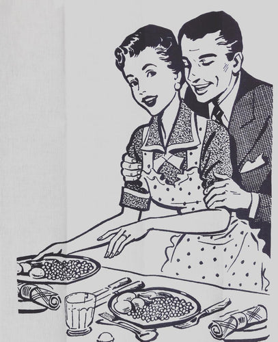 'Husband & Wife' Tea Towel