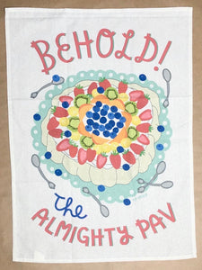 'The Almighty Pav' Tea Towel