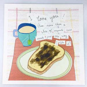 'I Love You More Than Vegemite' Print