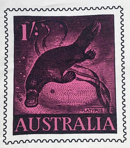 'Platypus Postage Stamp' Tea Towel