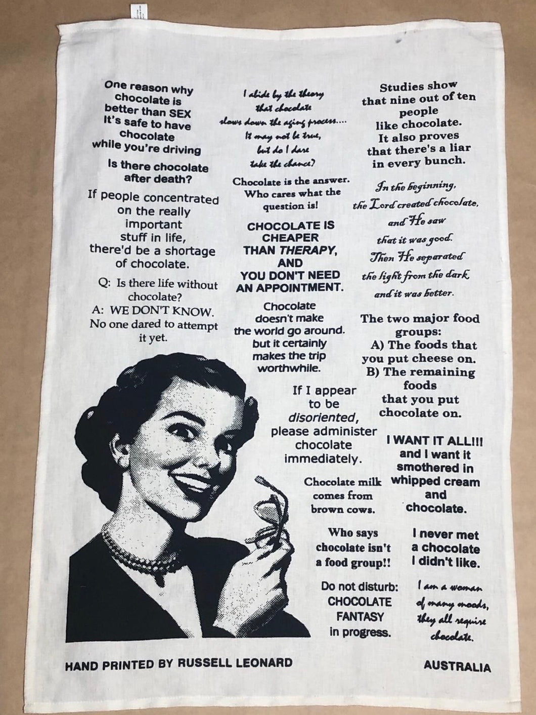 'Chocolate Fantasy' Tea Towel