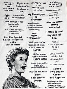 'Double Espresso' Tea Towel
