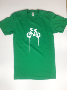Unisex 'Bike Spray Logo' Tee, Green