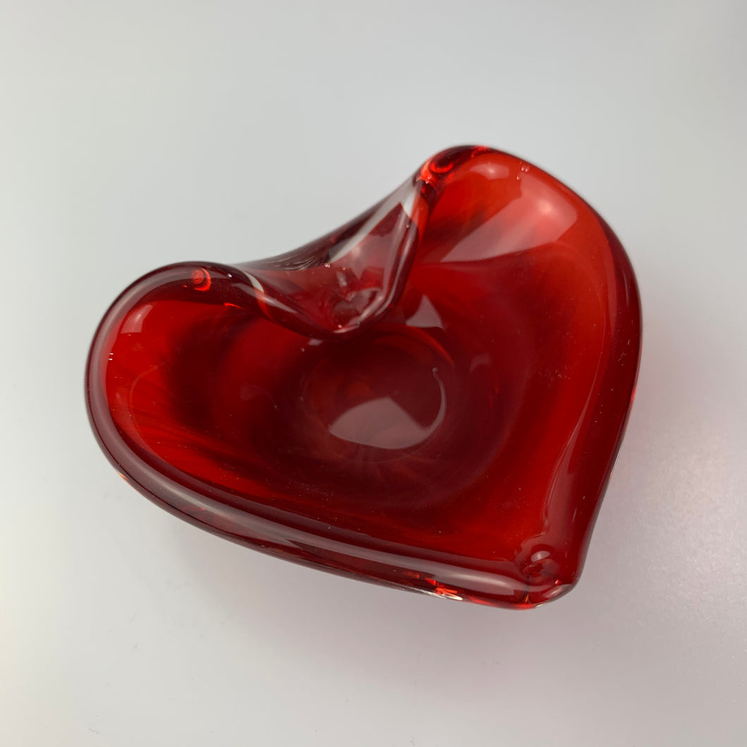 Small 'Lovez' Heart Bowl in Blood Red