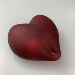 'Lovez' Heart Paper Weight in Blood Red