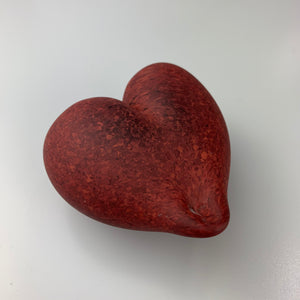 'Lovez' Heart Paper Weight in Mottled Red