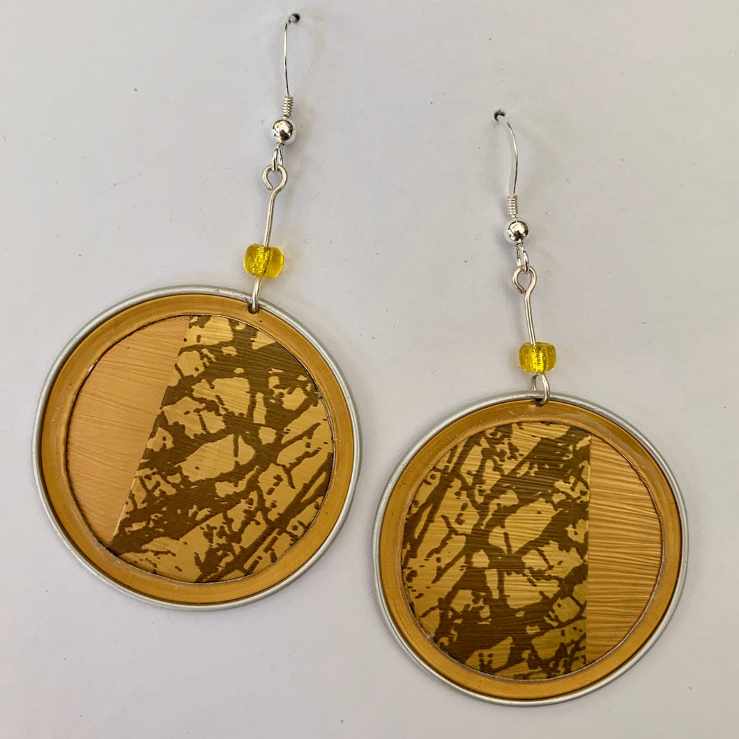 Upcycled Abstract Earrings - Edition 1681