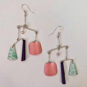 Upcycled Abstract Earrings - Edition 1541