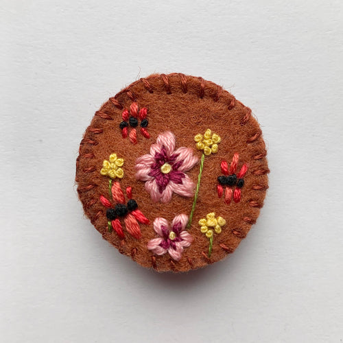 Native Medley Brooch in Tan
