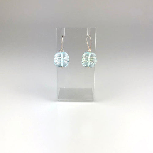 Recycled Banrock Station Glass + Wire Earrings Style 1