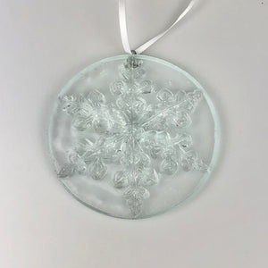 Glass Snowflake Christmas Ornament