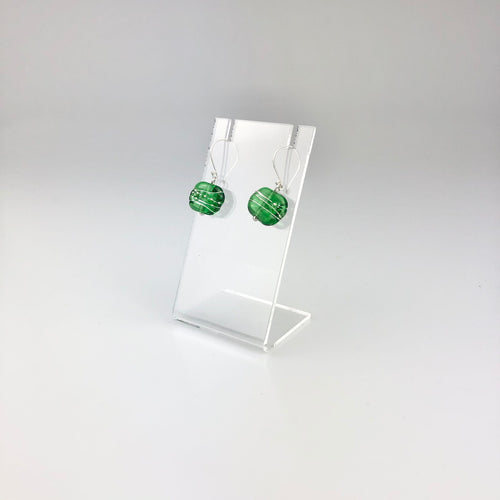 Recycled Tanqueray Glass + Wire Earrings