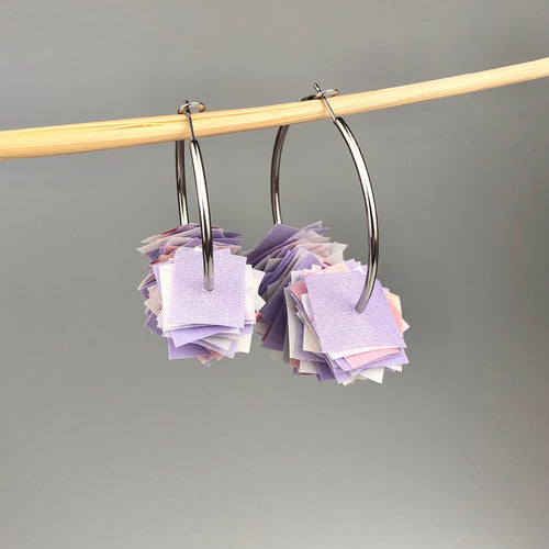 Pastel Lavender Confetti Hoops