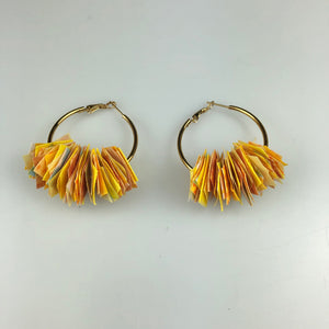 Ray of Sunshine Gold Confetti Hoops