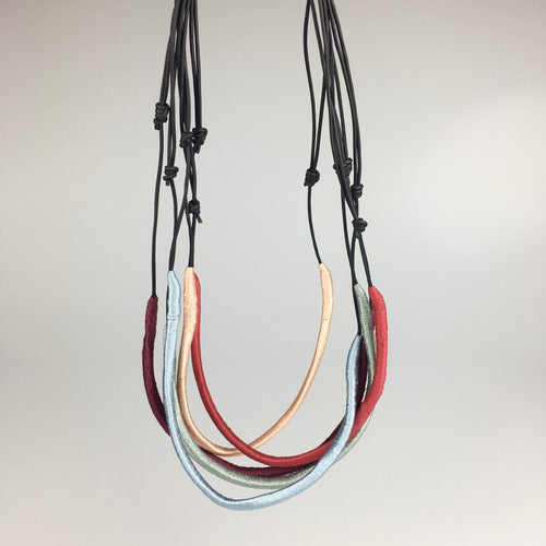 Woven Necklace in Red