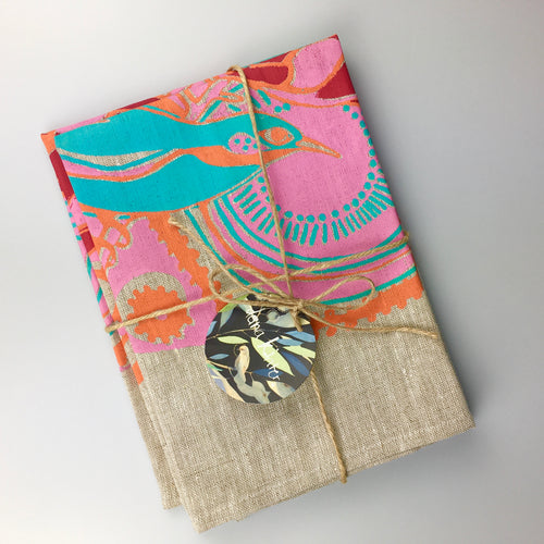 Set of 2 'Honeyeater and Protea' Napkins