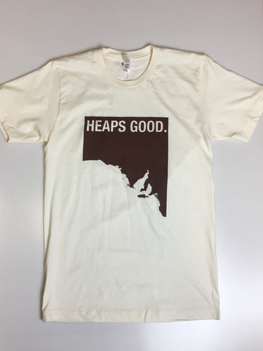 Unisex 'Heaps Good' American Apparel T-shirt in Sand