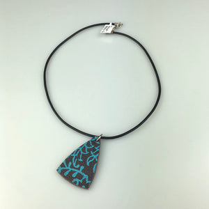 Brown Triangle with Paint Pattern Necklace