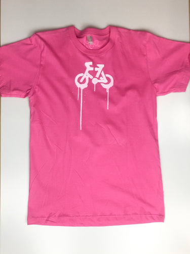 Unisex 'Bike Spray Logo' Tee, Pink