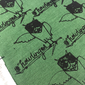 Howling Owl Dog Bandana Forest Green