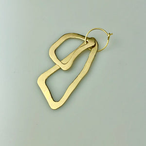 Small Brass 'Abstraction' Earrings