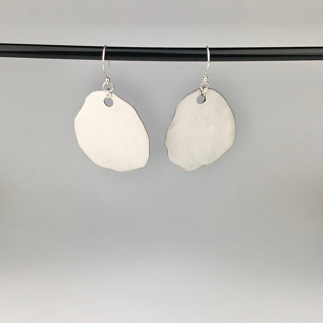 Full Silver 'Mud Puddle' Earrings