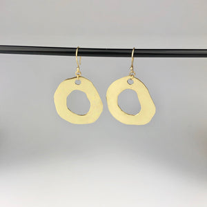 Brass Cutout 'Mud Puddle' Earrings