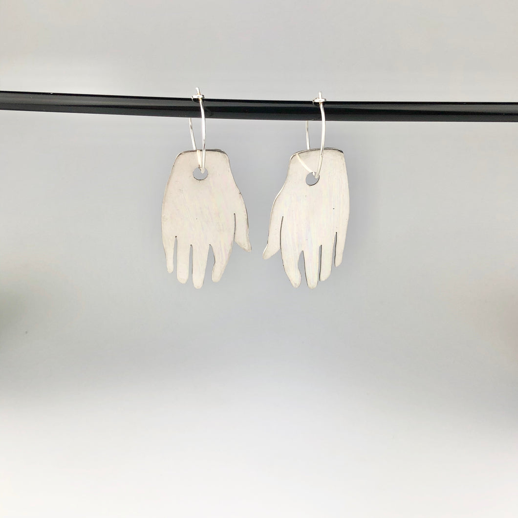 Small Silver 'Hand' Earring