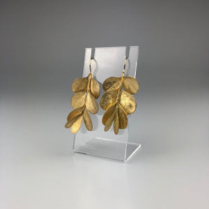 Box Bush Earrings in Gold Plate
