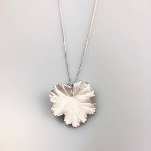 Botanical Leaf Necklace on Silver Chain
