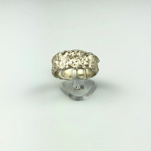 Botanical Imprint Ring in Silver