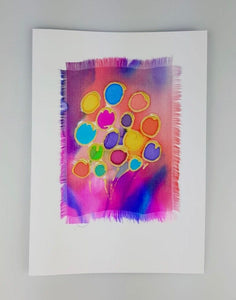 'Balloons' Painted Silk Greeting Card