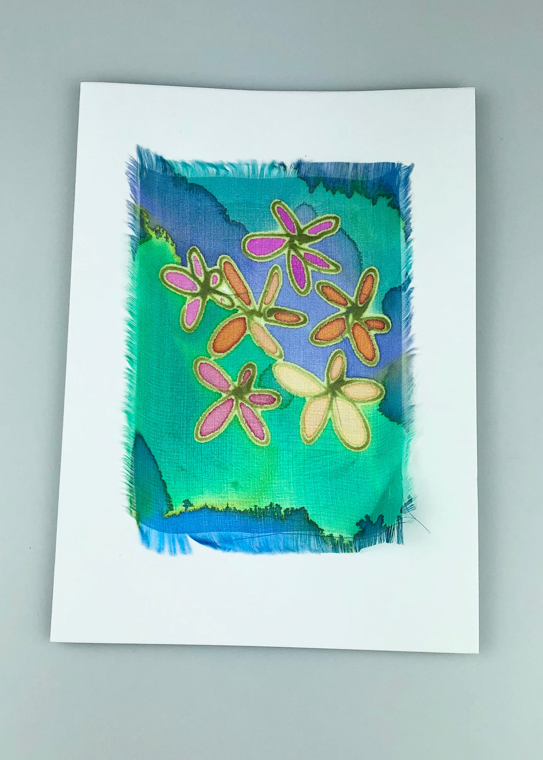 'Abstract' Painted Silk Greeting Card