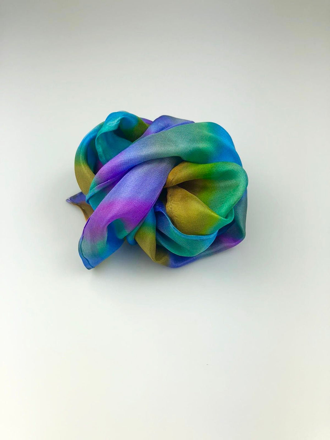 Small Silk Scarf - Multi colour stripe