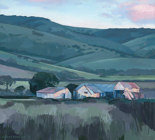 South Australian Landscape Card, Twilight on Just's Barn