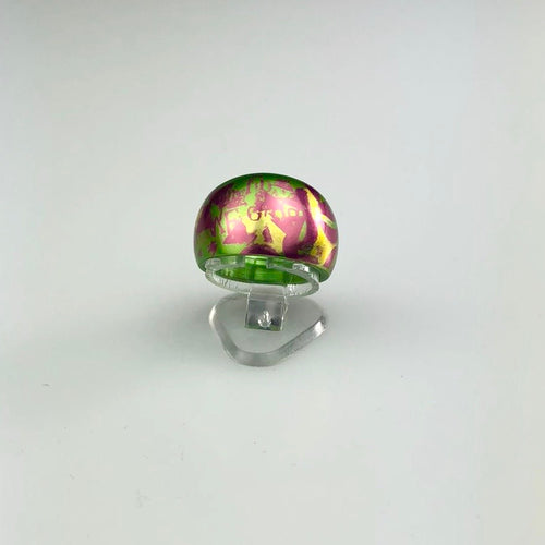 Ring in Green and Purple - Sz N-