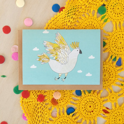 'Sulphur-Crested Cockatoo' Greeting Card