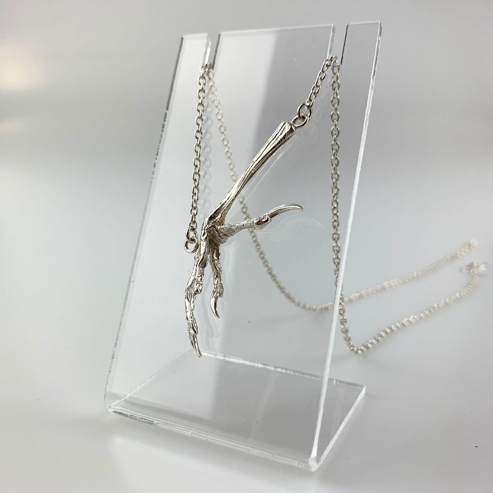 Necklace; Bird Claw and Chain